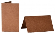 pack of 25 Kraft Paper 280 gsm Small Card Blanks/Table Place Cards