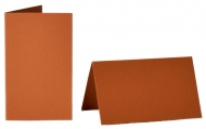 pack of 25 Small Card Blanks/Table Place Cards - Rust