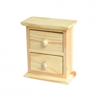Mini Wooden Craft Cabinet : 2 Drawers