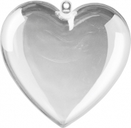 Acrylic heart 100 mm pack  5pcs