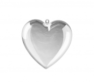 Fillable Clear Acrylic Heart 60 mm