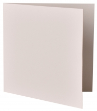 pack of 25 Square White Card Blanks Bio Top