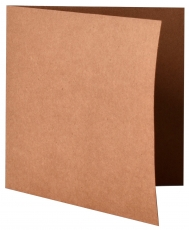 pack of 25 Square Kraft Paper Card Blanks