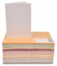 pack of 25 Pearlescent Card Blanks Rose White