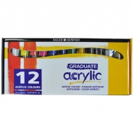 Acrylic Paint Set Daler Rowney Acrylic 12 Colours * 22 Ml