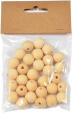 Wooden Beads Balls 16 mm 30 pcs