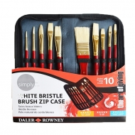 Daler Rowney Oils White Bristle Brush 10 with Wallet