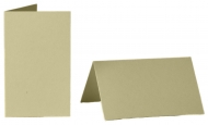 pack of 25 Small Card Blanks/Table Place Cards - Pearlescent Chamois