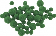 Pompoms Knorr-Prandell : Ø 8 - 20 mm : Pack of 100 : Green
