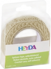 Heyda : Cotton Lace Tape : 15 mm x 2 m : Vanilla