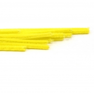 Yellow Pipe Cleaners Knorr-Prandell Ø8 mm, 50 cm - 10 pcs pack