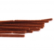 Brown Pipe Cleaners Knorr-Prandell Ø8 mm, 50 cm - 10 pcs pack