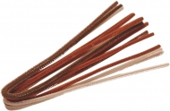Mix Brown Pipe Cleaners Knorr-Prandell Ø6 mm, 50 cm - 10 pcs pack
