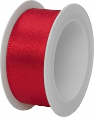 Stewo Red Satin Ribbon 25 mm width, 3 m length