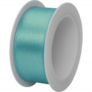 Stewo Turquoise Satin Ribbon 25 mm width, 3 m length