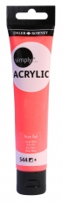 Neon Red Acrylic Paint Daler Rowney Simply