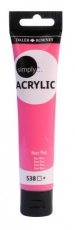 Neon Pink Acrylic Paint Daler Rowney Simply