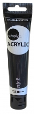 Daler Rowney Simply Acrylic 75 ml - Black