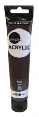 Brown Daler Rowney Simply Acrylic 75 ml