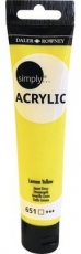 Daler Rowney Simply Acrylic 75 ml - Lemon Yellow