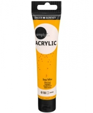 Daler Rowney Simply Acrylic 75 ml - Deep Yellow