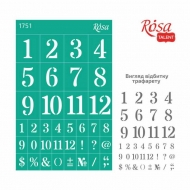 Reusable Self-Adhesive Stencil Rosa 13x20 cm Background 1751 Numbers