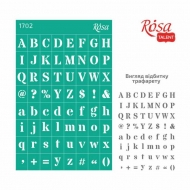 Reusable Self-Adhesive Stencil Rosa 13x20 cm Background 1702 Alphabet