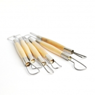 Set of 6 Ribbon Wire Clay Modelling Tools