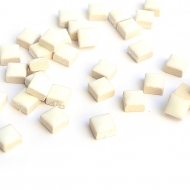 White Mosaic Tiles 8 x 8 mm, 50 pcs