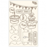 Rosa Chipboard Scrapbook Embellishments 12.6 x 20 cm - Party Time