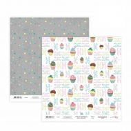 Scrapbook Paper Rosa 30.5*30.5 cm 200 g Cake Delicious Messages