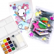 Sakura Koi Watercolour CAC Pocket Field Sketch Box 12 Assorted Colours