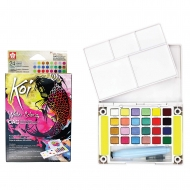 Sakura Koi Watercolour CAC Pocket Field Sketch Box 24 Assorted Colours