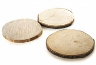 Wood Round Slices : 7 - 8 cm