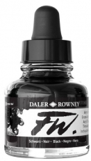Черен Акрилен Туш (Мастило) Daler Rowney FW Ink 29.5 ml