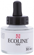 Бял Акварелен Туш Мастило Talens Ecoline 30 ml с пипетка
