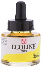 Акварелен Туш Мастило Talens Ecoline 30 ml с пипетка - Жълт Лимон