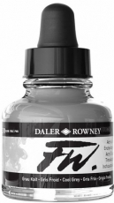Сив Акрилен Туш (Мастило) Daler Rowney FW Ink 29.5 ml