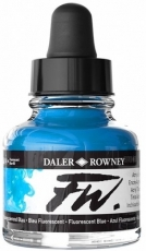 Флуоресцентен Акрилен Туш (Мастило) Daler Rowney FW Ink 29.5 ml - Син
