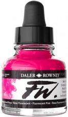 Fluorescent Acrylic Ink Daler-Rowney 29.5 ml - Pink