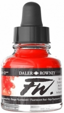Флуоресцентен Акрилен Туш (Мастило) Daler Rowney FW Ink 29.5 ml - Червен