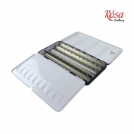 Empty Metal Watercolour Box : Holds 56 Half Pans or 28 Full Pans : With Fold-Out Palette