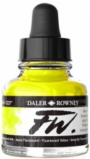 Флуоресцентен Акрилен Туш (Мастило) Daler Rowney FW Ink 29.5 ml - Жълт