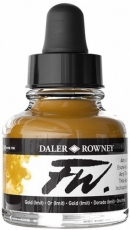 Gold Acrylic Ink Daler-Rowney 29.5 ml