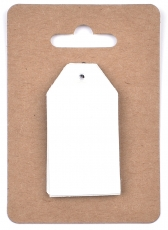 White Pearlescent Tags 3 x 4 cm