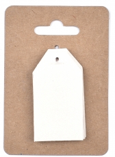 White Pearlescent Tags 3 x 4 cm, 12 pcs Rose Antique