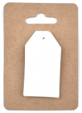 White Watercolour Paper Tags 3 x 4 cm