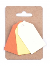 Murano Paper Tags 3 x 4 cm, 3 colours x 4 pcs - Sunrise