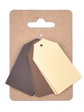 Murano Paper Tags 3 x 4 cm, 3 colours x 4 pcs - Earth