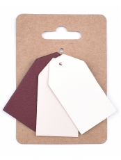 Murano Paper Tags 3 x 4 cm, 3 colours x 4 pcs - Pinks